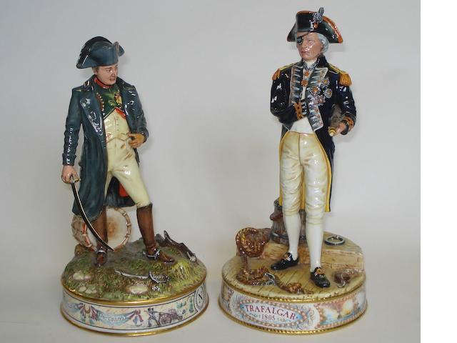 Two Royal Doulton colour trial prototype figures