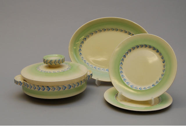 A Clarice Cliff part dinner service