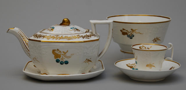 An early 19th century Copeland & Garrett late Spode Felspar porcelain part tea service