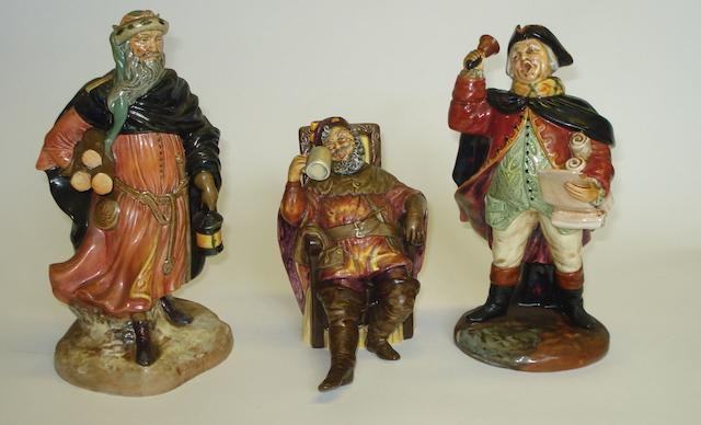Figurines Three Royal Doulton figures