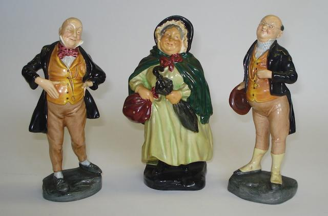 Figurines A group of three Royal Doulton figures