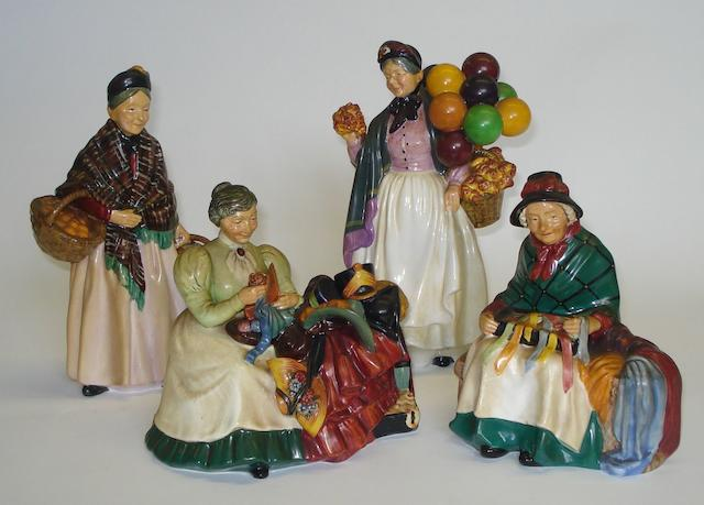 Figurines A group of four Royal Doulton figures