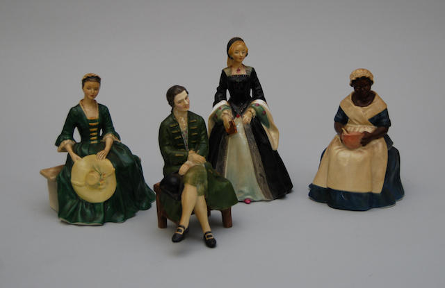Four Royal Doulton figurines