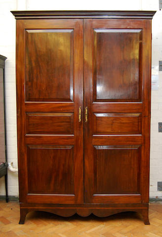 A mahogany armoire, late 18th Century