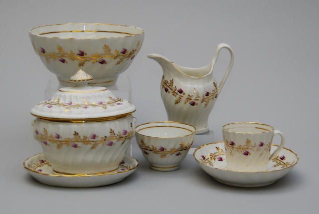 An English part tea service