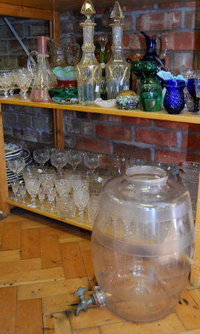 A large quantity of various glasswares