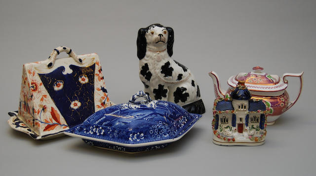 A mixed collection of Staffordshire ceramics