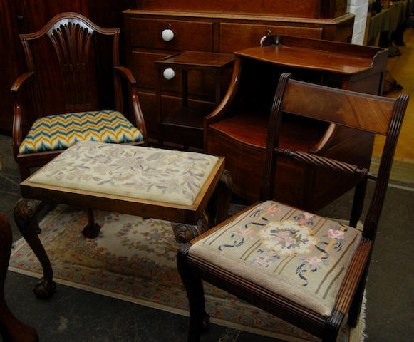 A group of miscellaneous occasional furniture