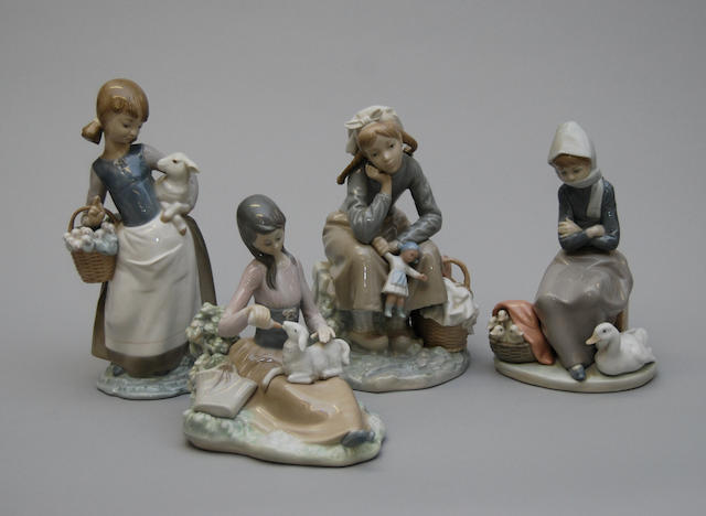 Four Lladro figurines