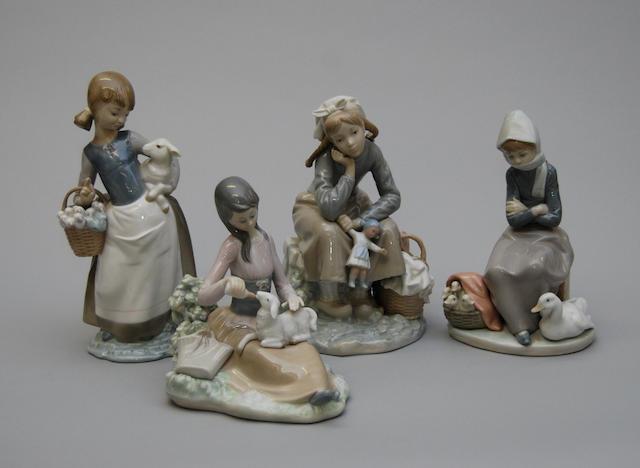 Four Lladro figurines