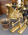 A mixed collection of brasswares