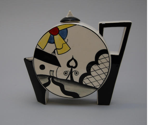 A Lorna Bailey teapot and cover