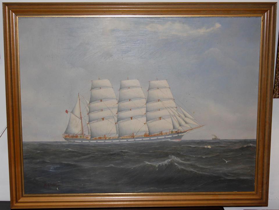 B.A. Mayor (Early 20th Century) Ship in full sail