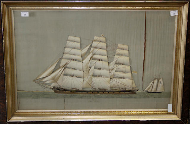 A silk ship diorama