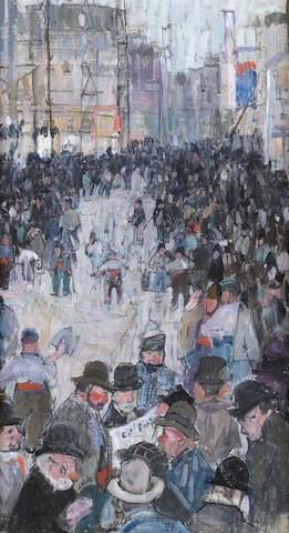 Leon Schulman Gaspard (Russian/American, 1882-1964) Paris street scene