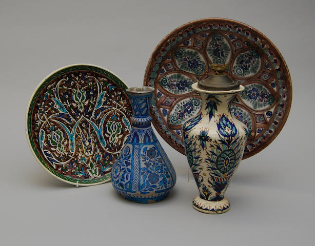 Two Kutahya pottery dishes