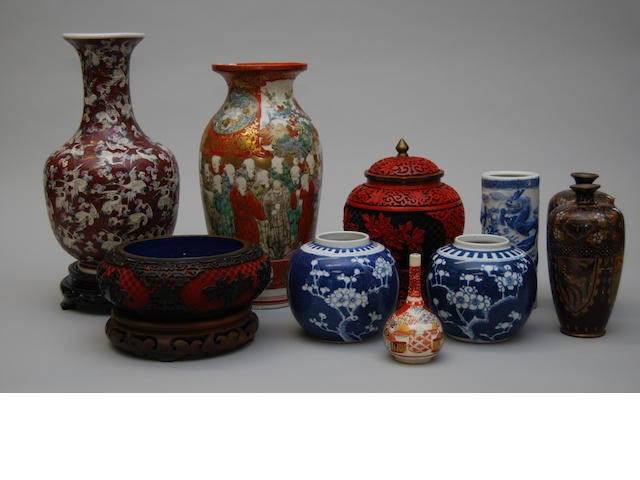 A small collection of Oriental ceramics