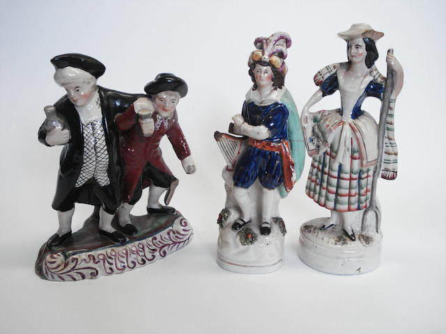 Two Staffordshire figures, circa 1865