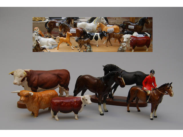A quantity of Beswick animals
