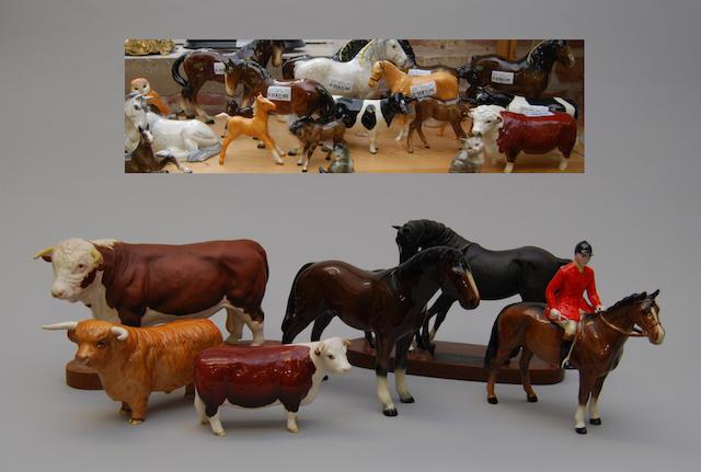 A quantity of Beswick animals