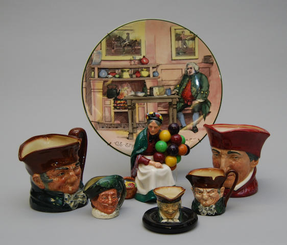 A small collection of Royal Doulton wares