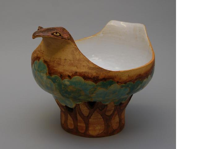 A pottery jardiniere