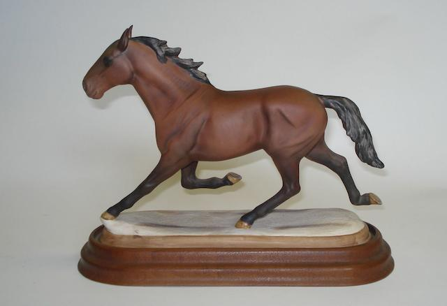 A Beswick 'Cardy The Million Dollar Pacer' horse figure