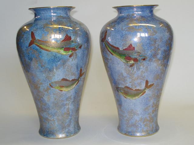 A pair of Wilton Ware lustre vases  First half 20th Century