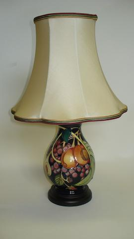 A Moorcroft 'Queens Choice' pattern table lamp