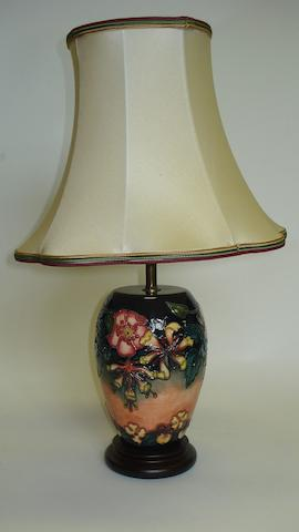 A Moorcroft 'Oberon' pattern table lamp
