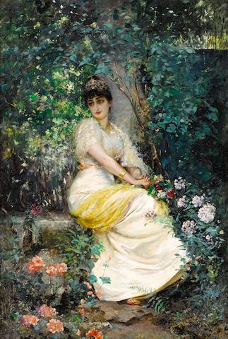Edouard Frederic Wilhelm Richter (German, 1844-1913) In the garden