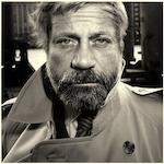 Alistair Morrison, Oliver Reed, London, 1985, silver bromide print, edition 21/25, framed