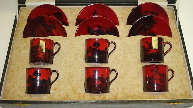 Flambe Wares A Royal Doulton Flambe coffee service