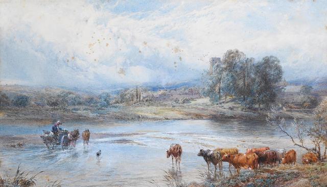 Myles Birket Foster, RWS (British 1825-1899) The Tyne at Ovington