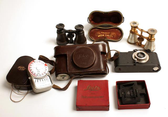 A Leica II camera