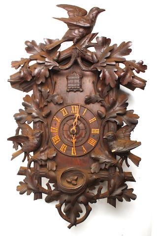 A late 19th century German cuckoo clock