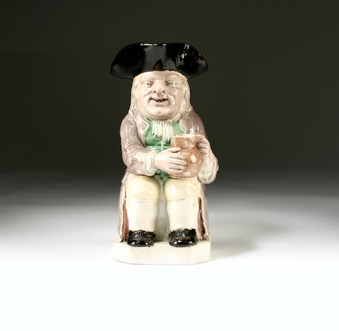 A Wood type Toby jug, circa 1795
