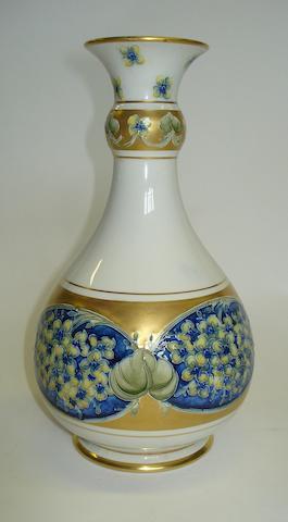 A Moorcroft Macintyre Lilac pattern vase Circa 1905