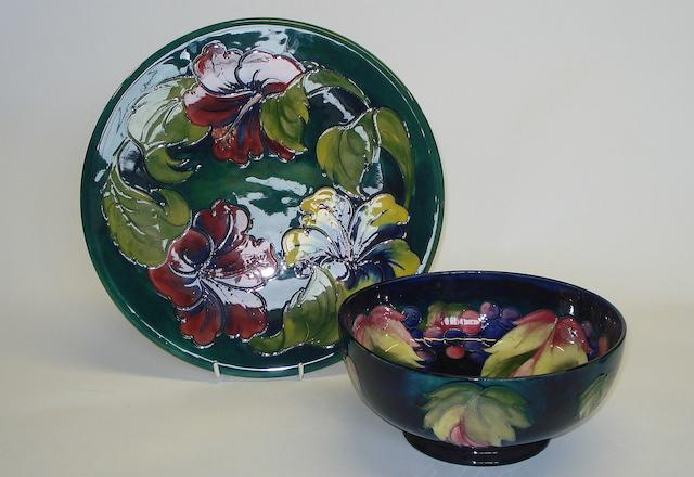 A Moorcroft Leaf and Berries pattern bowl