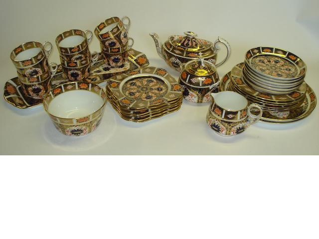 A Royal Crown Derby 'Imari' pattern tea service