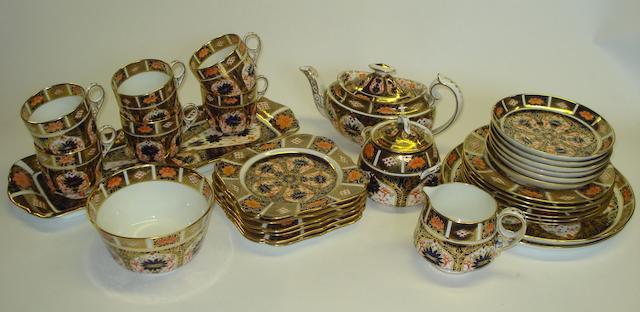 A Royal Crown Derby 'Imari' pattern tea service