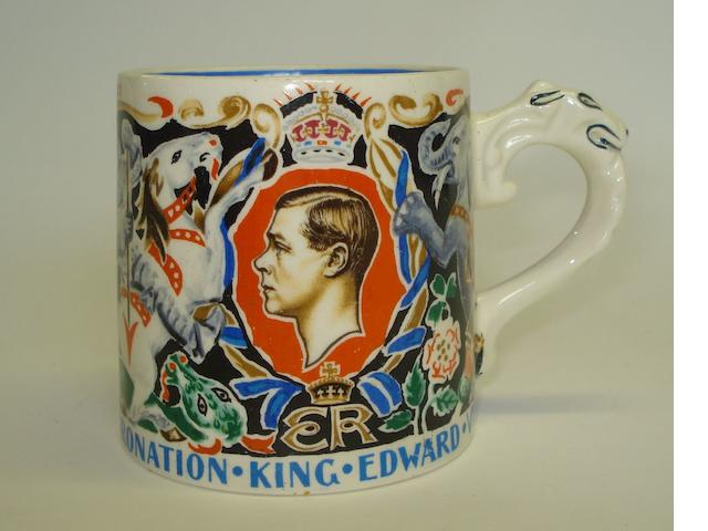 An 'Edward VIII Coronation, 1937' commemorative mug designed by Dame Laura Knight
