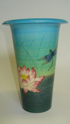 A Sally Tuffin Dennis China work teardrop vase Dated 2002