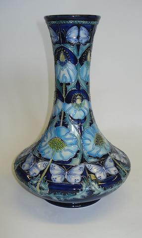 A Moorcroft 'Pavion' pattern vase Dated 2002