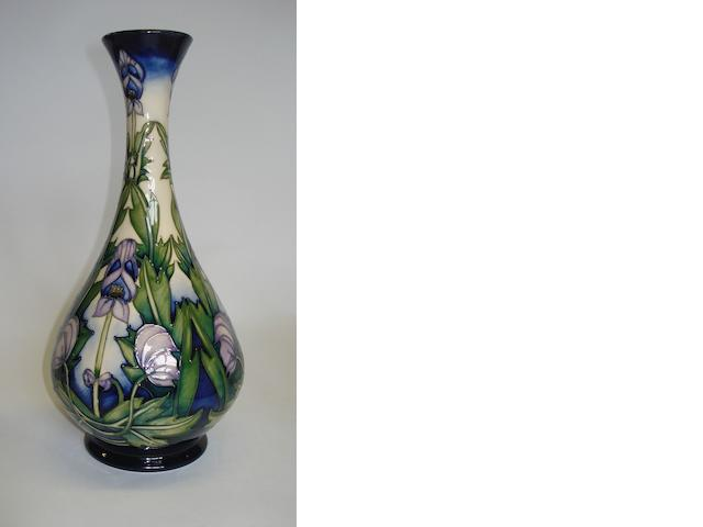 A  Moorcroft 'Wolfsbane' vase designed by Anji Davenport Dated 2001