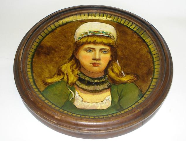 Associated Wares A Doulton faience charger or wall plaque, Circa 1880