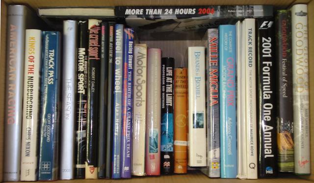 A quantity of Grand Prix and motorsport books,