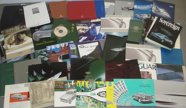 A quantity of modern sales literature,