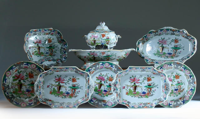 A Masons Ironstone part dinner service, circa 1820-30