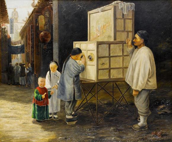 John Thomson (British, 1837-1921) The magic lantern peepshow